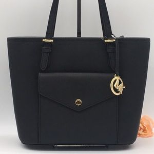 MICHAEL KORS MD PKT MF TOTE BLACK 38H8GTTT6L